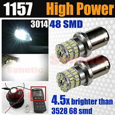 2x 1157 2357 High Power 800LM 6000K White Turn Signal Brake Tail LED Light Bulbs