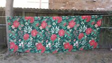 "Print Poinsettia Pinecone Christmas Rectangle 80""X62"" Tablecloth Free Shipping"