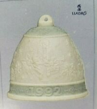 Vintage Lladro 1992 Christmas Bell, 6th Annual Porcelain Ornament, Retired, Nos
