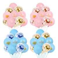 14PCS Baby Shower Confetti Balloons Birthday Wedding Party Decor Gril or Boy