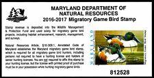 Md-43 (2016) Maryland State Duck Stamp Signed by Artist (Richard M. Manard)