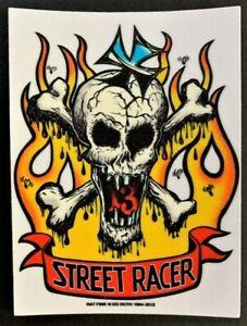 Street Racer STICKER Decal Skull & Cross Bones Roth Rat Fink Official Original