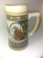 ANHUESER BUSCH 1987 BUDWEISER HORSE HEAD STEIN W/ EAGLE CS76
