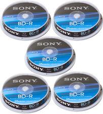 50 Sony Blu-ray BD-R 25Gb 1-6x Spindel Rohlinge Sony gelabelt