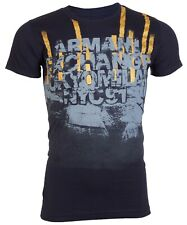 Armani Exchange Mens S/S T-Shirt AN-03 Designer NAVY BLUE Casual M-XL $45