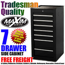 MAXIM 7 Drawer Side Cabinet Tool Box Chest Toolbox Shed Garage Storage Mechanic