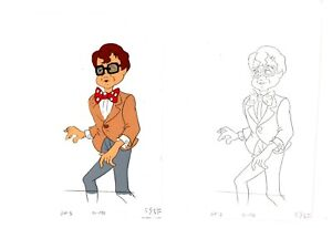 Rick Moranis Gravedale High Production Cel and Drawing frag Hanna Barbera 1990 5