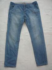 Nouveau Mamas & Papas détresse/Bleach/porté ourlet style jeans grossesse Taille 14 R