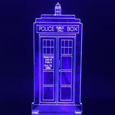 Amazing Multicolors Light Doctor Who TARDIS Lights Acrylic Police Box Desk Lamp