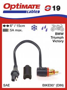 Optimate O-019 Adapter SAE to BIKE 90° plug UK Supplier & Warranty NEW