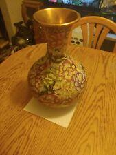 Brass & Enamel Vase