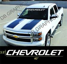 Chevrolet Silverado 1500 Truck White Windshield Sticker Logo Vinyl Decal Graphic