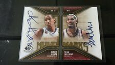Alexis Ajinca / Sean Williams Signatures SP Game Used