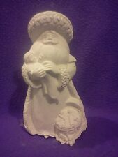 "Guardian Santa 10 1/2"" Ceramic Bisque, ready to paint"