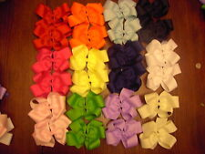 LOT OF 12 LARGE BOUTIQUE HAIRBOWS !!!!!!!!!!!!