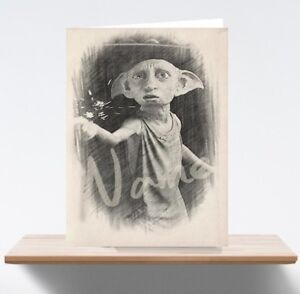 Personalised Harry Potter Dobby Art/Sketch/Drawing Birthday Card
