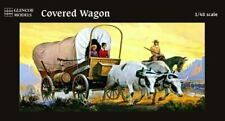 GLENCOE MODELS 1/48 WESTERN COVERED WAGON W/2 OXEN, 1 HORSE & 3 FIGURES | 5402