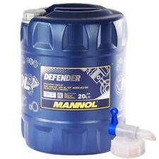 20 Liter MANNOL 10W-40 Motoröl Defender Teilsynthetisch Benzin Diesel + HAHN