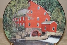 """Bradford Exchange 1991 """"Old Red Mill"""" collectible plate #3788A original box"""