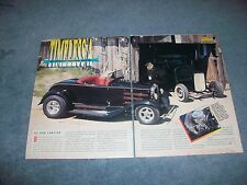 "1930 Ford Model A Roadster Hot Rod Vintage Article ""Timeless A"""