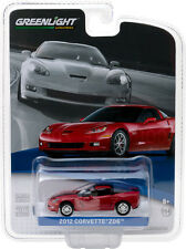 GREENLIGHT 2012 CHEVROLET CORVETTE Z06 CRYSTAL RED 1/64 DIECAST MODEL 27870 A