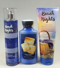 Bath & Body Works BEACH NIGHTS Summer Marshmallow Mist Body Lotion Cream 3 pc