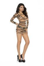 Sheer zebra print long sleeve mini dress! One Size!