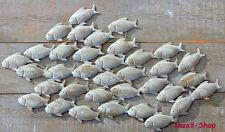 XL FISCHSCHWARM  WANDOBJEKT WANDBILD FISCH WANDDEKO  EISEN GRAU  97 x 54 cm