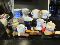 Vintage Shaving Lot 16+ Mugs Brushes  Razors Soap Various Styles LOT A