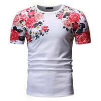 Muscle tee blouse men's casual o neck slim fit tops short sleeve t shirt summer