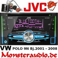 JVC Bluetooth Autoradio Doppel-DIN USB MP3 Radio für VW Polo 4 9N 9N3 Fox Lupo