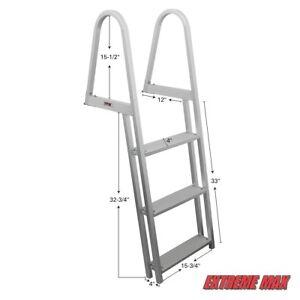 Extreme Max 3005.3377 3-step Pontoon/Dock/Floating Raft Ladder