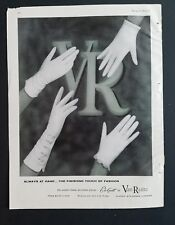 1960 women's Van Raalte Ele-gant white gloves always at hand vintage ad