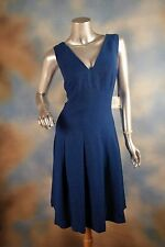 NEW $139 ANNE KLEIN royal blue fit n flare Mariner 1950's retro dress SZ: 12