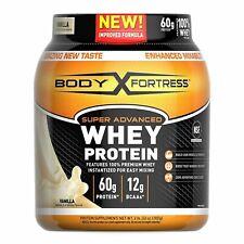 Super Advanced Whey Protein Powder, Gluten Free, Vanilla, 2 Pound ,Body Fortress