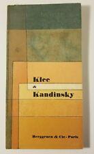 Klee & Kandinsky Une Confrontation Art Exhibition Catalog 1959, Berggruen & Cie
