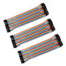 3 set 40pc Dupont Wire Jumper Cable 1P-1P 2.54mm Male to Female length 20cm S4M7