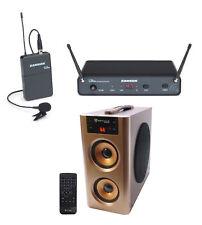 Samson Concert 88x Wireless Uhf Lavalier Microphone Lav mic - K Band+Speaker