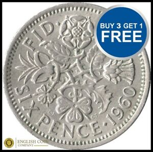 Sixpence 99p Each Choose your Date 1947-1967 FREE P&P All Dates BIRTHDAY COIN