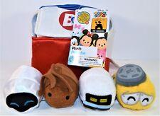 Disney 10th Anniversary Pixar Wall E 4 Tsum Set Lunch Box Musical Cooler Plush