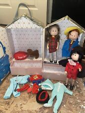 1999 Madeline Paris House Carrying Case Eden With 3 Dolls & Accessories Vet Dog+