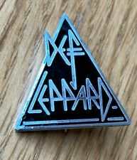 More details for def leppard vintage shaped enamel pin badge from the 1980's heavy metal