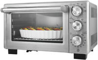 Convection Toaster Oven Brushed Stainless Steel 6 Slice Family Size Pizza Cook