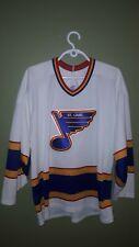 VTG MASKA CCM MENS ST. LOUIS BLUES NHL HOCKEY JERSEY # 17 REVERSE STITCHED (L)
