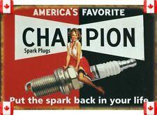 20X30cm Tin Metal Sign CHAMPION SPRK PLUG VINTAGE GARAGE CAFE BAR PUB Wall 018