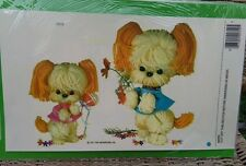 Meyercord Vintage Water Applied Decals Transfers Extra Large Size Yarn Puppy Dog