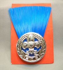 SCOUTS OF CHINA (TAIWAN) - GROUP SCOUT MASTER (GSM GSL) Metal Plume Hat Badge