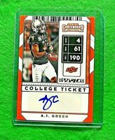 A.J. GREEN AUTO ROOKIE COLLEGE TICKET BENGALS 2020 CONTENDERS DRAFT PICKS RC