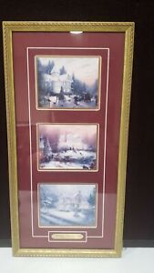 1995 THOMAS KINKADE FRAMED VICTORIAN CHRISTMAS PAST with COA