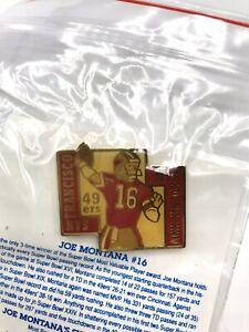 San Francisco 49ers Joe Montana MVP Super Bowl XVI XIX XXIV UNOCAL 76 Pin